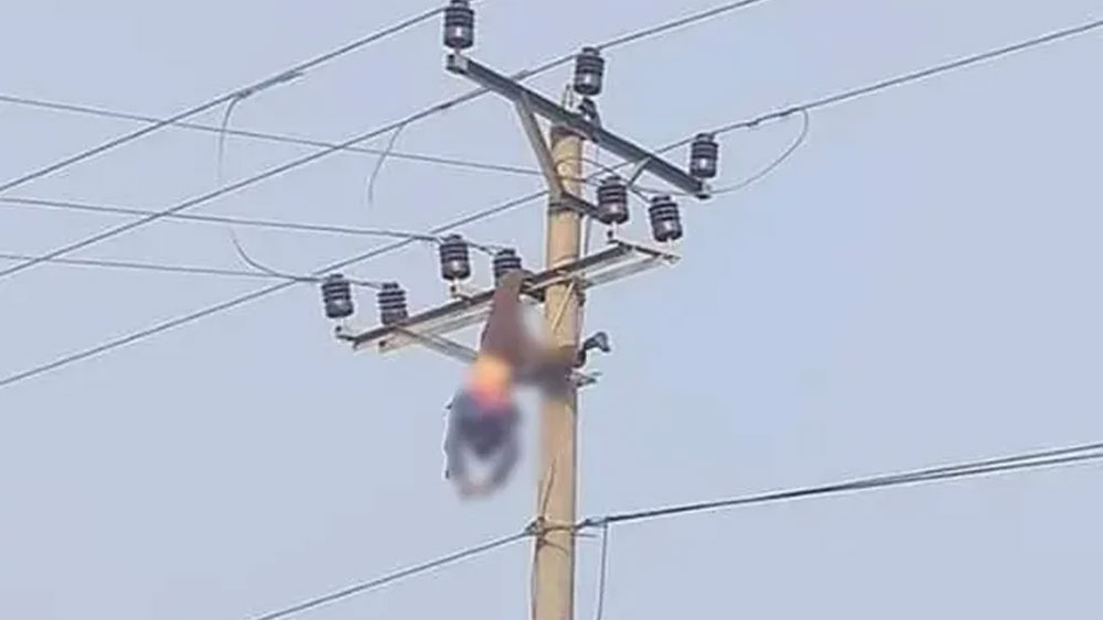 Trèo lên cột điện uống rượu, người đàn ông tử vong sau tiếng nổ lớn